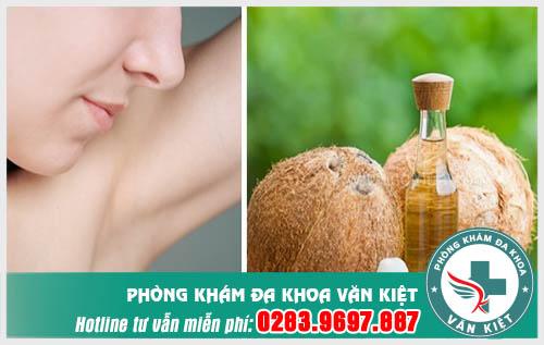 Cách chữa hôi nách bằng dầu dừa